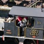 Locomotiva antiga em Paranapiacaba
