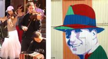 Musicos de rua e Gardel