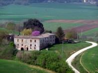 Estradinha rural na Toscana, Itália