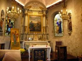 Normanda, Mont Saint-Michel, interior da igreja