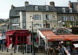 Normandia, Honfleur, centro