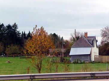 Normandia, fazenda no outono
