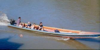 Barco no rio Ping