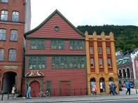 Bergen, Noruega, casas típicas