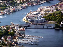 Bergen, Noruega, vista aérea