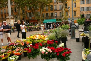 Cannes, flores