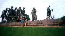 Delhi, Índia, monumento a Gandhi