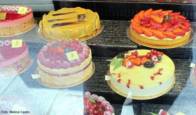 Os doces em Paris, França