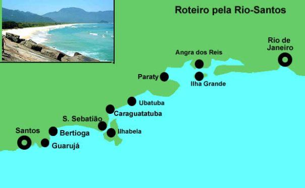 Rio-Santos, roteiro