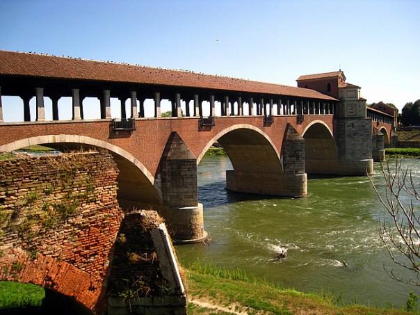 Ponte Coperto, Pavia, Itália - Foto Groume CCBY SA