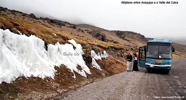 Estrada entre Arequipa e Chivay, Peru