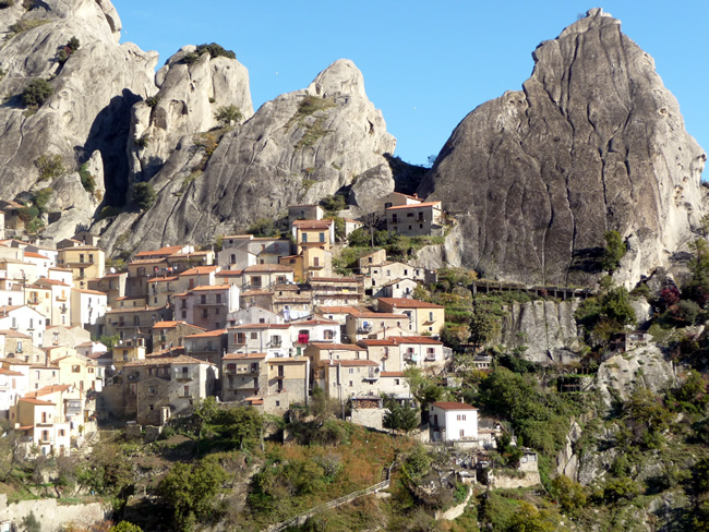 Castelmezzano, na Basilicata, Itália