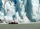 Glaciar Serrano, próximo a Puerto Natales, no Chile