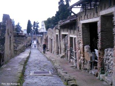 Rua em Herculano, Itália