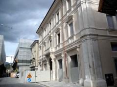 Edifício restaurado em l'Aquila
