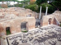 Piso das termas de Ostia Antica