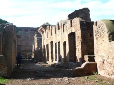 Sítio aqueológico de Ostia Antica, muito bem preservado