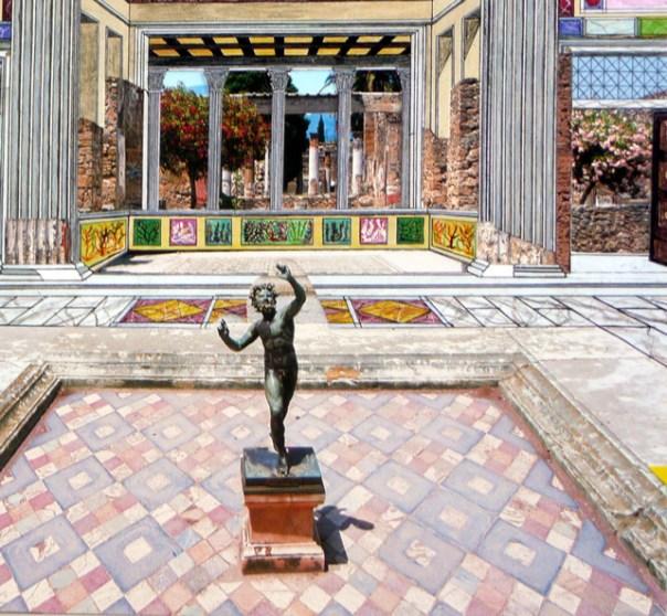 Reconstituição, Casa do Fauno, Pompeia, Itália
