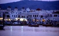 Grécia, Mikonos à noite