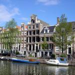 Holanda, canal típico de Amsterdã