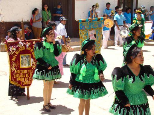 Carnaval em an Pedro de Atacama, no Chile