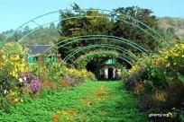 Grande allé do jardim de Claude Monet à Givern- Foto Ariane Cauderlier