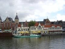 Holanda, canal em Amsterdã