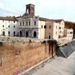 Isola Tiberina, no rio Tibre, Roma