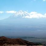 Paisagens vulcânicas no Atacama, Chile