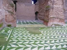 Piso de mosaico, Termas de Caracala, Roma