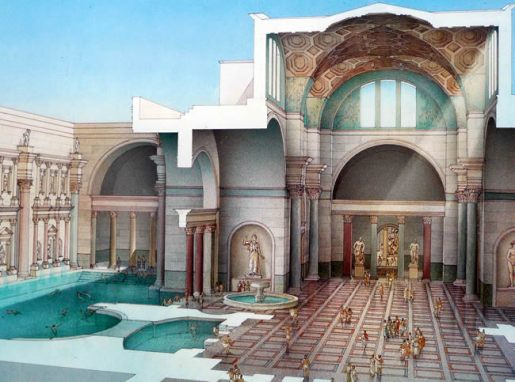 Termas de Caracala, em Roma, reconstituição