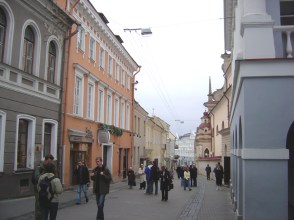 Rua de Vilnius, Lituânia, Europa Oriental