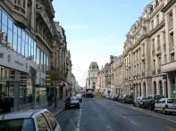 Rua no centro de Reims