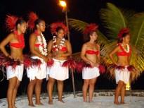 Espetáculo folclórico em Bora Bora
