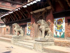 Pátio interno do palácio real, Patan, Nepal