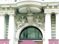Detalhe art-déco em edifício de Viena