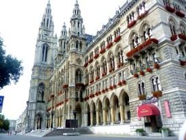 Frente da prefeitura de Viena