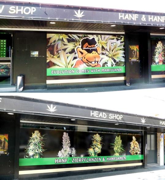 Loja legalizada que vende maconha em Viena