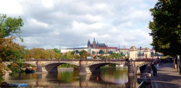 Panorâmica do rio Vltava