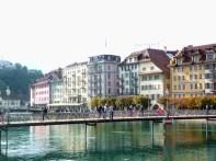 Ponte dos cadeados do amor em Lucerna