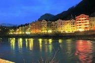 Innsbruck. Paisagem junto ao rio Inn,