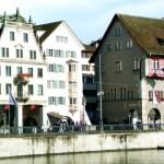 Zurich, as margens do rio Limmat