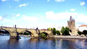 rio vltava na cidade de Praga