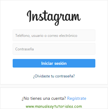 Descarga el manual de Usuario de Instagram