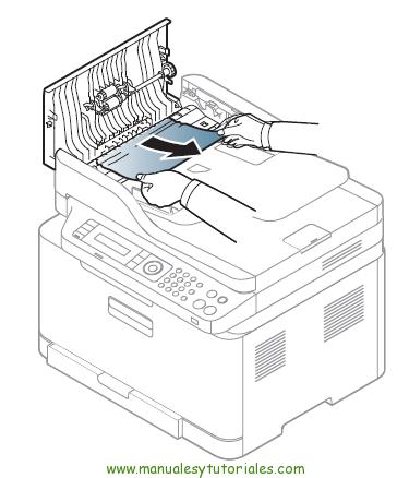 Cómo eliminar atasco de papel en la impresora Samsung Xpress SL-C460WCómo eliminar atascos de papel en la impresora Samsung Xpress SL-C460W