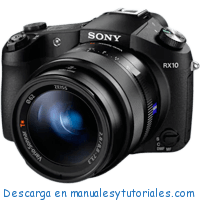 Sony DSC RX10 Manual de Usuario en PDF español
