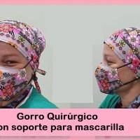 Gorro quirúrgico con soporte para mascarilla ¡Muy útil!