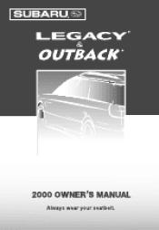 2000 Subaru Outback Manuals
