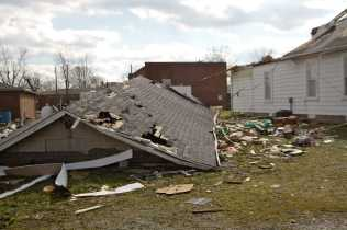 Though there were many homes left relatively unscathed, some were torn entirely off their foundations. Half of the main church in Henryville was destroyed.