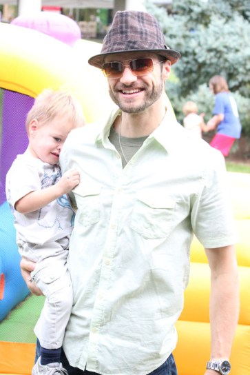 English teacher, Mr. David Wright, brings his children out to Irish Fest for a fun family outing.